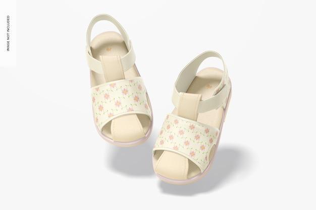 Maquette de chaussures de bébé