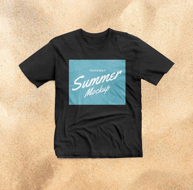 Maquette de chemise noire d'été