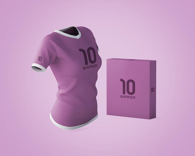 Maquette de chemise de sport avec logo de la marque