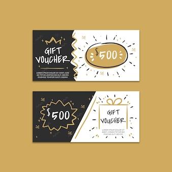 Maquette de chèques cadeaux créatifs