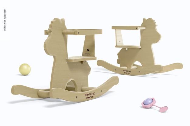 Maquette de chevaux à bascule en bois pour bébé