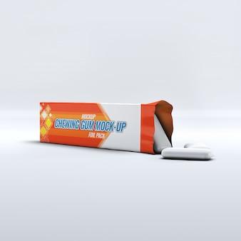 Maquette de chewing-gum psd gratuit