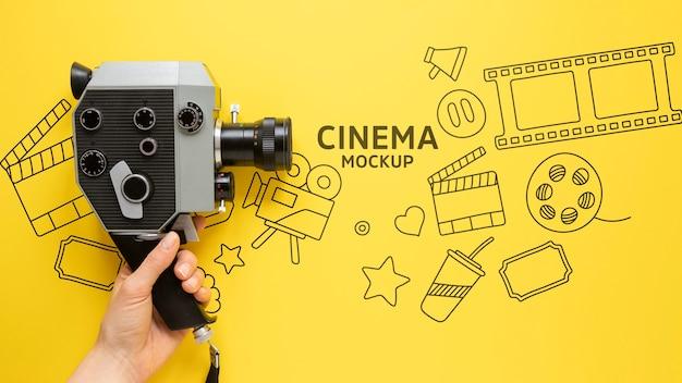 Maquette de cinéma vue de dessus
