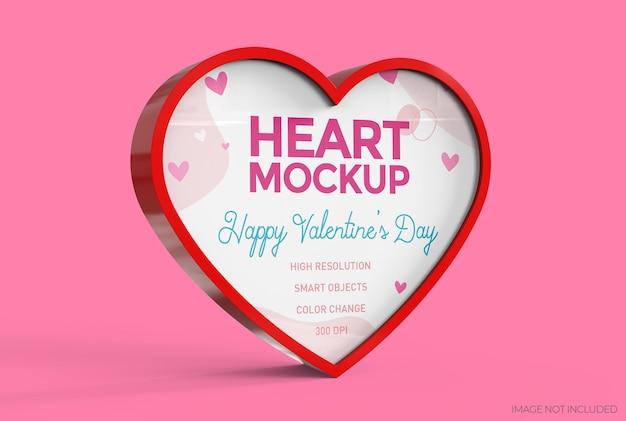 Maquette de coeur pour la saint-valentin. concept romantique de signe d'affaires. couleurs modifiables.