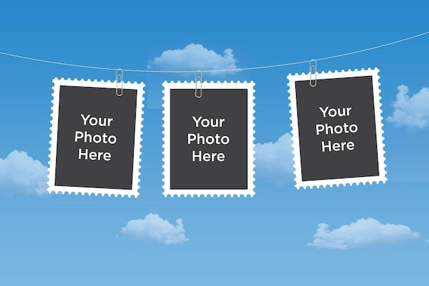 Maquette de collage photo maquette de cadre photo vide composite