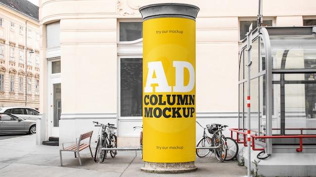 Maquette de colonne publicitaire
