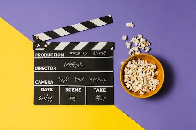 Maquette de composition de cinéma à plat