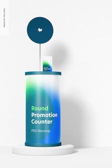 Maquette de comptoir de promotion ronde