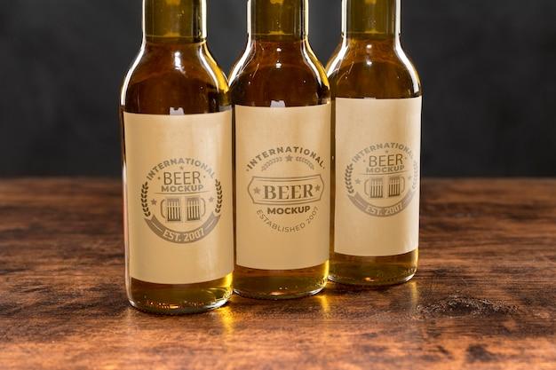 Maquette de concept d'arrangement de bière artisanale