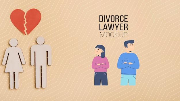 Maquette de concept d'avocat de divorce