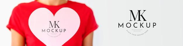 Maquette de concept de beau coeur
