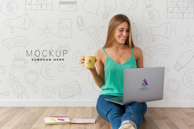 Maquette de concept de blogueur moderne