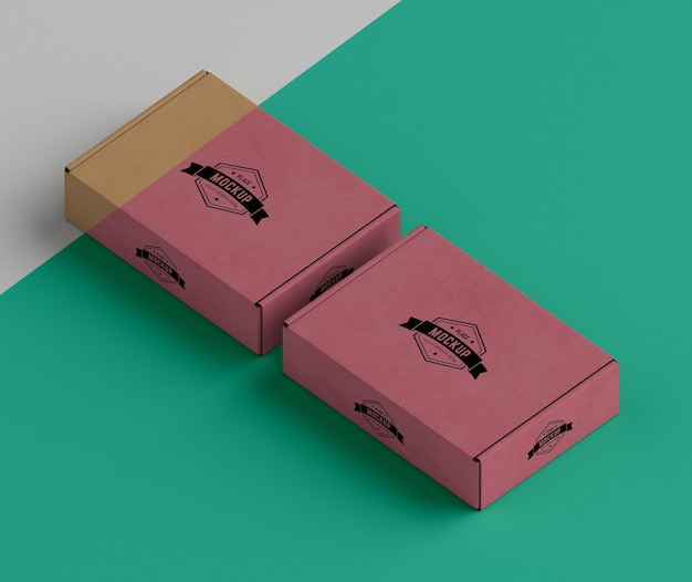 Maquette de concept de boîte d'emballage