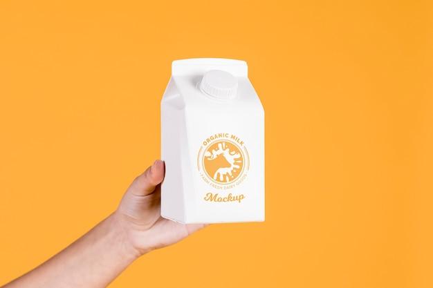 Maquette de concept de bouteille en papier