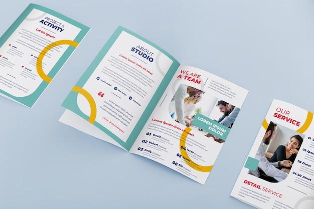 Maquette de concept de brochure