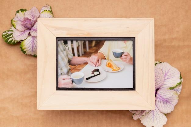 Maquette de concept de cadre familial fleur