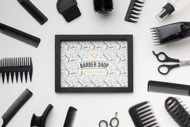 Maquette de concept de coiffeur