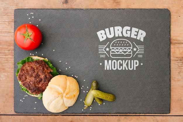 Maquette de concept de cuisine américaine