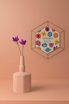 Maquette de concept déco de printemps