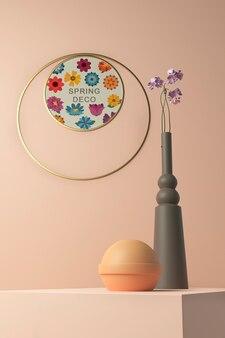Maquette de concept de décoration de printemps