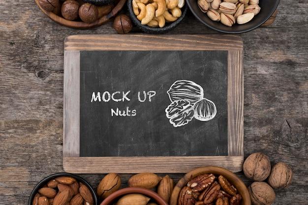 Maquette de concept de délicieuses noix