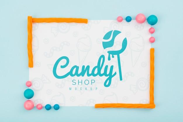 Maquette de concept de délicieux bonbons