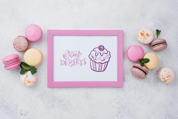 Maquette de concept de dessert délicieux