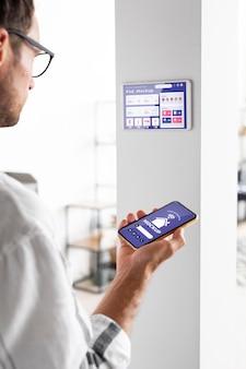 Maquette de concept domotique avec thermostat