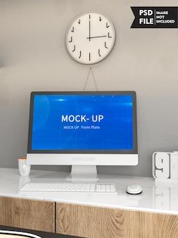 Maquette de concept d'écran d'ordinateur