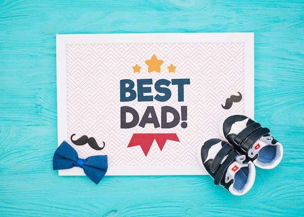 Maquette de concept de fête des pères heureux
