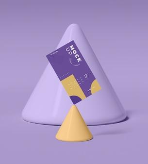 Maquette de concept de formes géométriques