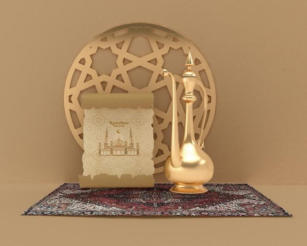 Maquette de concept de formes islamiques
