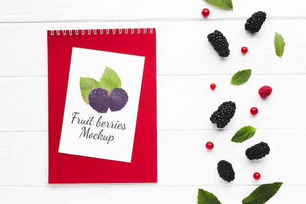 Maquette de concept de fruits délicieux
