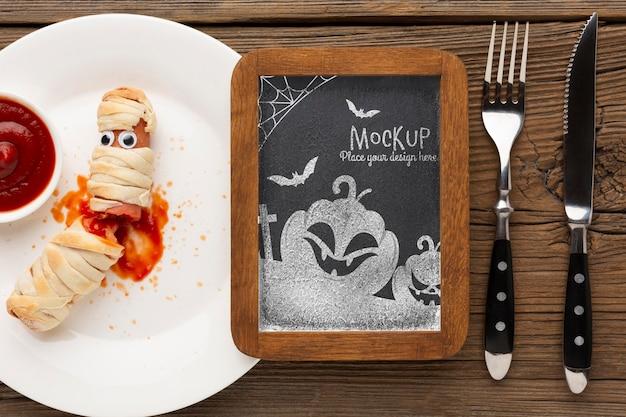 Maquette de concept halloween effrayant