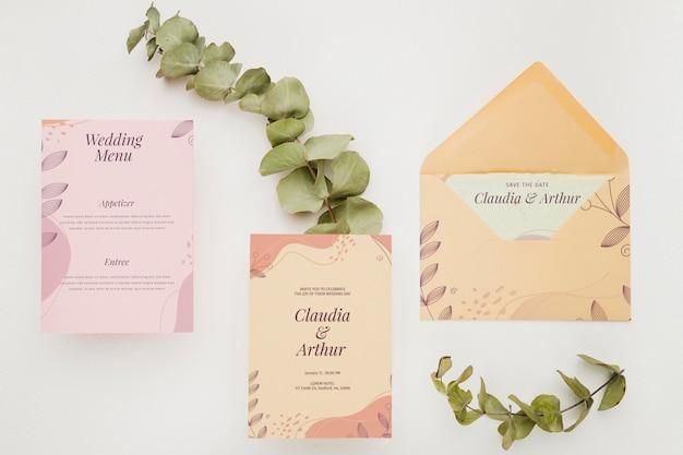 Maquette de concept d'invitation de mariage