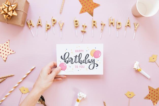 Maquette de concept de joyeux anniversaire