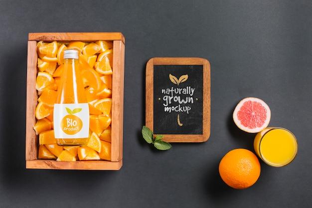 Maquette de concept de jus et de smoothie