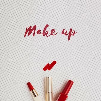 Maquette de concept de maquillage de rouge à lèvres