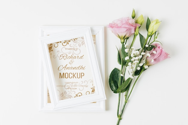 Maquette de concept de mariage floral