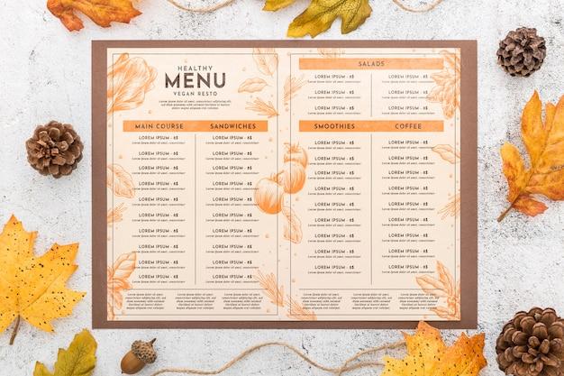 Maquette de concept de menu de restaurant