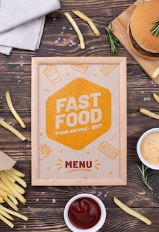 Maquette de concept de menu de restauration rapide