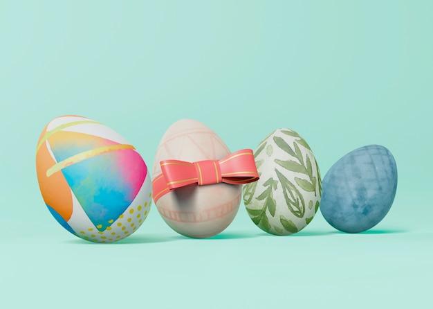 Maquette de concept de pâques coloré