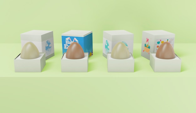 Maquette de concept de pâques