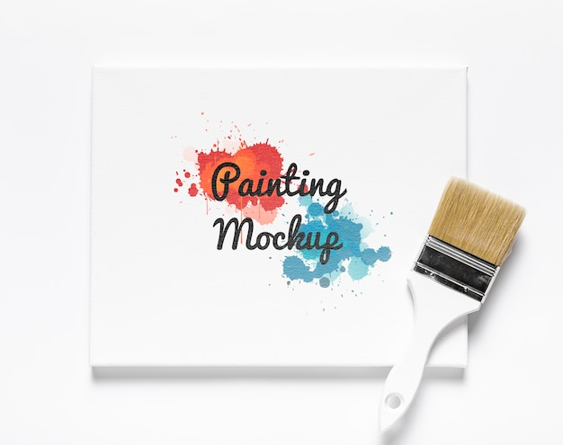 Maquette de concept de peinture colorée