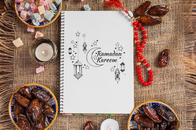 Maquette avec le concept de ramadan