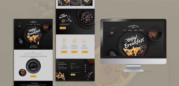 Maquette de concept de restaurant de nourriture moody