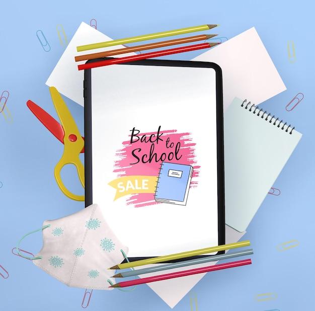Maquette de concept de retour à l'école