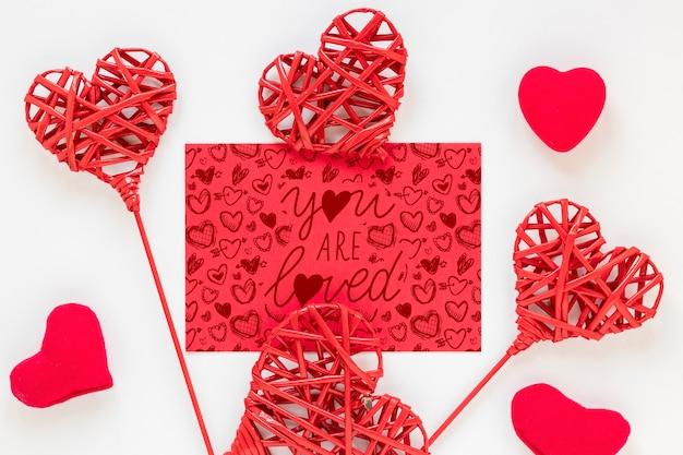 Maquette de concept de la saint-valentin
