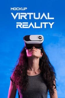 Maquette de concept technologique de réalité virtuelle