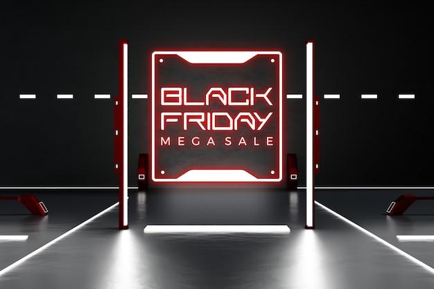 Maquette de concept de vendredi noir